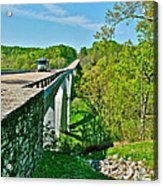 Bridge Over Birdsong Hollow At Mile 438 Of Natchez Trace Parkway-tennessee Acrylic Print