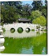 Bridge Over Emerald Water Acrylic Print