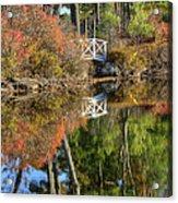Bridge Over Fall Waters Acrylic Print