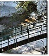 Bridge Over Frozen River Acrylic Print