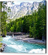 Bridge Over Mcdonald Creek In Glacier Np-mt Acrylic Print