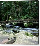 Bridge Over Mountain Stream Acrylic Print
