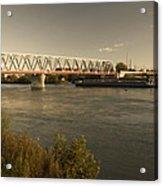 Bridge Over Rhein River Acrylic Print