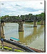 Bridge Over River Kwai In Kanchanaburi-thailand Acrylic Print