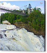 Bridge Over Rushing Water Acrylic Print