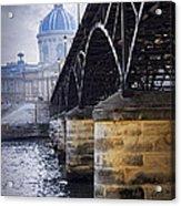Bridge Over Seine In Paris Acrylic Print