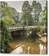 Bridge Over Siem Reap River On The Road Acrylic Print