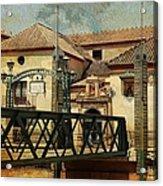 Bridge Over The River Guadalmedina In Malaga I. Spain Acrylic Print