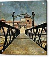 Bridge Over The River Guadalmedina In Malaga. Spain Acrylic Print