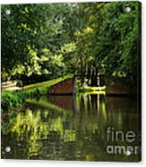 Bridge Over The Wey Navigation In Surrey Acrylic Print
