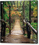 Bridge Over Waterfall Acrylic Print by Nawarat Namphon