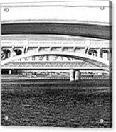 Bridge Panorama Black And White Acrylic Print