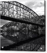 Bridge Reflections In Autumn Acrylic Print