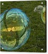 Bridge Reflections In The Bubbles Acrylic Print