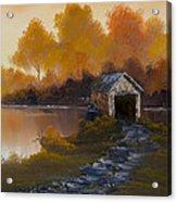 Covered Bridge In Fall Acrylic Print