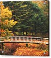 Bridge To Autumn Acrylic Print