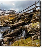 Bridge To Idwal Acrylic Print