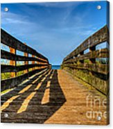 Bridge To The Beach Acrylic Print
