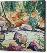 Bridge To The Hot Springs Acrylic Print