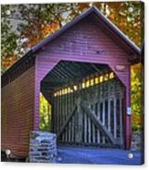 Bridge To The Past Roddy Road Covered Bridge-a1 Autumn Frederick County Maryland Acrylic Print