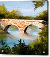 Bridge Under El Dorado Lake Acrylic Print by Robert Carver