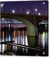 Bridges At Night Acrylic Print