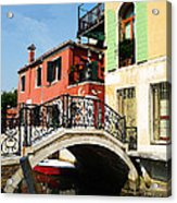 Bridges Of Venice Acrylic Print