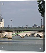 Bridges Over The Seine And Conciergerie - Paris Acrylic Print