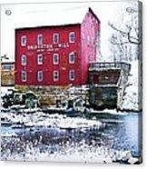 Bridgeton Mill In Winter Acrylic Print by Virginia Folkman