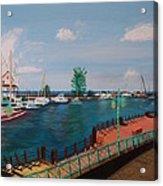Bridgetown Boardwalk Acrylic Print