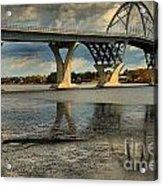Bridging Vermont And New York Acrylic Print
