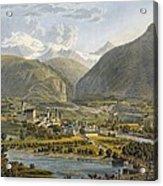 Brig On The Rhone, Bernese Alps Acrylic Print