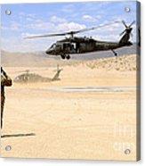 Brigade Aviation Officer Salutes Acrylic Print