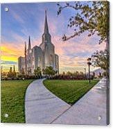 Brigham City Sunset Acrylic Print