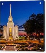 Brigham City Temple Twilight 1 Acrylic Print