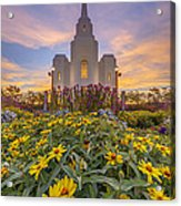 Brigham City Temple Vertical Panorama Acrylic Print