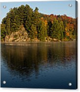 Bright And Sunny Autumn Reflections Acrylic Print