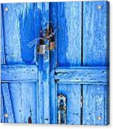 Bright Blue Door Acrylic Print