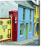 Bright Buildings In Ireland Acrylic Print