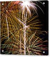 Bright Bursts Of Fireworks Acrylic Print