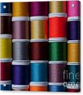 Bright Colored Spools Of Thread Acrylic Print