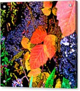 Bright Colorful Leaves Vertical Acrylic Print