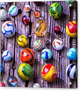 Bright Colorful Marbles Acrylic Print