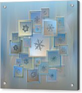 Snowflake Collage - Bright Crystals 2012-2014 Acrylic Print by Alexey Kljatov