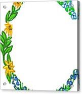 Bright Fun Colorful Hand Drawn Monogram C Acrylic Print