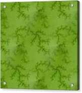 Bright Green Fractal Acrylic Print
