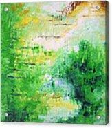 Bright Green Modern Abstract Garden Spirits By Chakramoon Acrylic Print