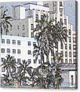 Bright Light Miami Beach Acrylic Print