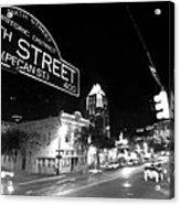 Bright Lights At Night Acrylic Print by John Gusky