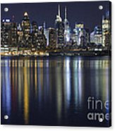 Bright Lights Big City Acrylic Print by Marco Crupi